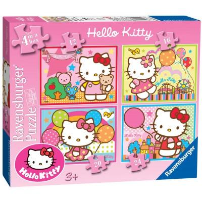Ravensburger-07256 4 Puzzles - Hello Kitty