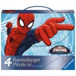 Ravensburger-07262 4 Puzzles - Spiderman