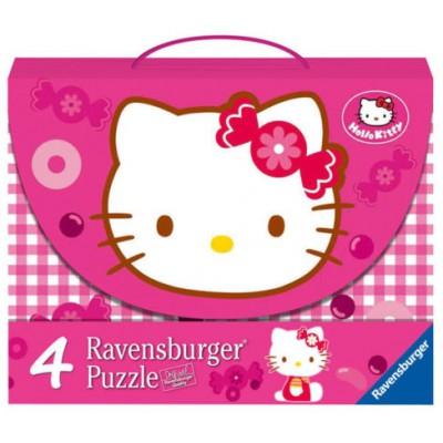 Ravensburger-07263 4 Puzzles - Hello Kitty