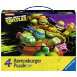 Ravensburger-07299 4 Puzzles - Ninja Turtles