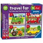 Ravensburger-07303 4 Puzzles - Travel Far