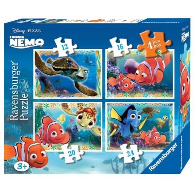Ravensburger-07321 4 Puzzles - Findet Nemo