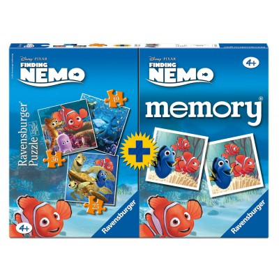 Ravensburger-07344 3 Puzzles: Findet Nemo + Memory