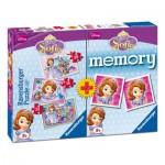 Ravensburger-07358 3 Puzzles Sofia + Memory