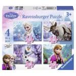Ravensburger-07360 4 Puzzles: Frozen - Die Eiskönigin