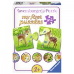 Ravensburger-07365 9 Puzzles - Süße Waldbewohner