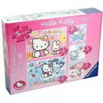 Ravensburger-07393 5 Puzzles - 20 und 49 Teile: Hello Kitty