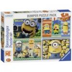 Ravensburger-07395 4 Puzzles - Minions