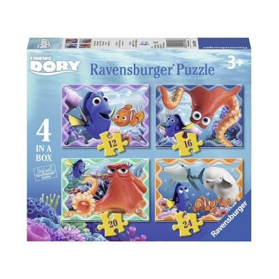 Ravensburger-07399 4 Puzzles - Findet Dorie