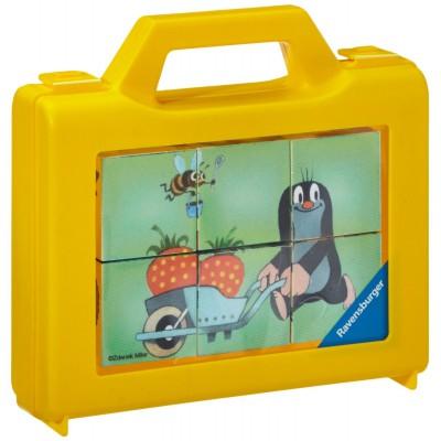 Ravensburger-07466 Würfelpuzzle - Der kleine Maulwurf im Garten
