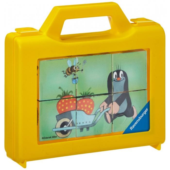 Würfelpuzzle - Der kleine Maulwurf im Garten