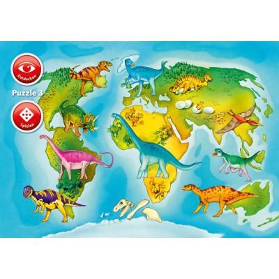 Ravensburger-07503 Im Reich der Dinosaurier - Interactive Puzzle
