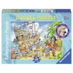 Puzzle  Ravensburger-07512 Spaß auf dem Piratenschiff