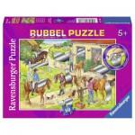 Puzzle  Ravensburger-07513 Spaß auf dem Reiterhof