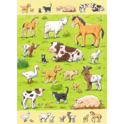 Puzzle Ravensburger-07544 Bauernhoftiere