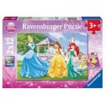Puzzle  Ravensburger-07555 Prinzessinnen im Garten