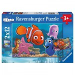 Puzzle  Ravensburger-07556 Nemo der kleine Ausreißer