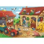 Puzzle  Ravensburger-07560 Fleißig auf dem Bauernhof