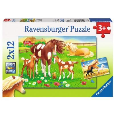 Puzzle Ravensburger-07561 Wehende Mähnen