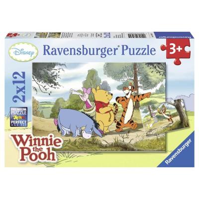 Ravensburger-07564 2 Puzzles - Winnie Pooh