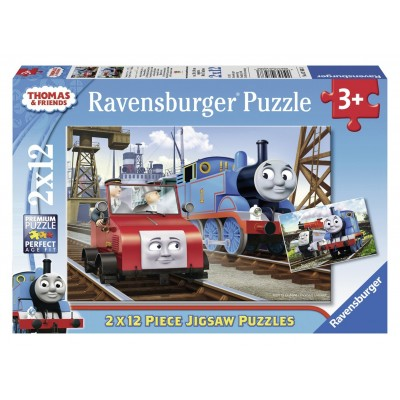 Ravensburger-07568 2 Puzzles - Thomas & Friends