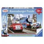 Ravensburger-07568 2 Puzzles - Thomas & Friends