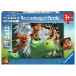 Ravensburger-07571 2 Puzzles - Arlo und Spot