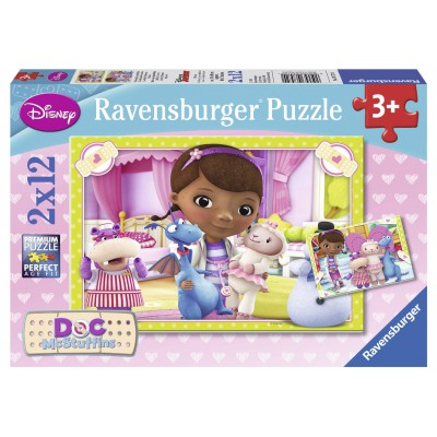 Ravensburger-07572 2 Puzzles - Disney Doc McStuffins