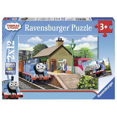 Ravensburger-07583 2 Puzzles - Thomas die Lokomotive