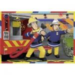 Ravensburger-07584 2 Puzzles - Feuerwehrmann Sam