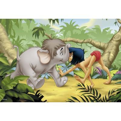 Ravensburger-07587 2 Puzzles - Dschungelbuch: Mogli und seine Freunde