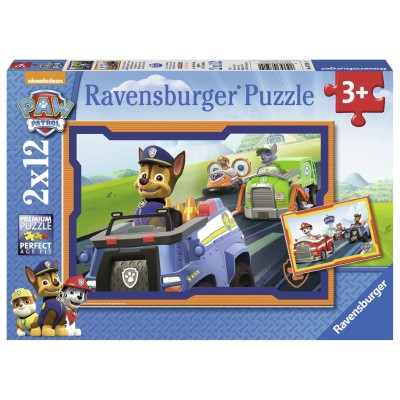 Ravensburger-07591 2 Puzzles - Paw Patrol