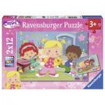 Ravensburger-07592 2 Puzzles - Chloe