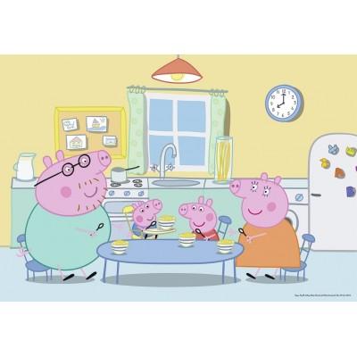 Ravensburger-07596 2 Puzzles - Peppa Pig