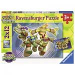 Ravensburger-07597 2 Puzzles - Ninja Turtles