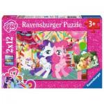 Ravensburger-07600 2 Puzzles - My Little Pony