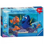 Ravensburger-07601 2 Puzzles - Finding Dory
