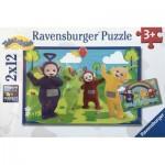 Ravensburger-07605 2 Puzzles - Teletubies