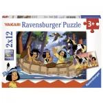 Puzzle  Ravensburger-07607 Elefant, Löwe & Co