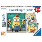 Ravensburger-08007 3 Puzzles - Minions