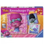 Ravensburger-08013 3 Puzzles - Trolls