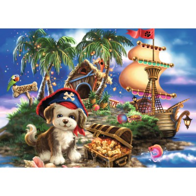 Puzzle Ravensburger-08764 Puppy Pirate