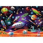 Puzzle  Ravensburger-08782 Weltraum