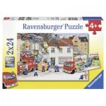 Puzzle  Ravensburger-08851 Bei der Feuerwehr