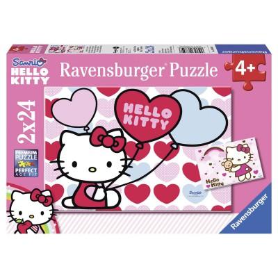 Puzzle Ravensburger-08854 Hello Kittys Welt
