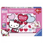 Ravensburger-08854 2 Puzzles - Hello Kitty