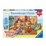 Ravensburger-08856 2 Puzzles - Winnie