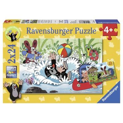 Puzzle Ravensburger-08863 Urlaub mit Maulwurf