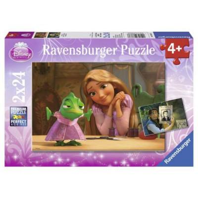 Ravensburger-08867 2 Puzzles - Rapunzel