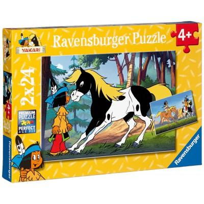 Puzzle Ravensburger-08869 Yakari und kleiner Donner - 2 x 24 Teile